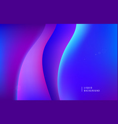 Abstract purple neon background dynamic 3d vector