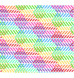 abstract zigzag rainbow pattern with rhombus vector image