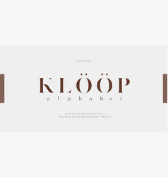 Alphabet elegant letters font and number classic vector