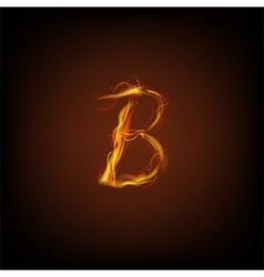 Alphabets flame vector