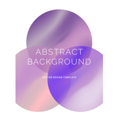 background with vibrant gradient shapes vector image