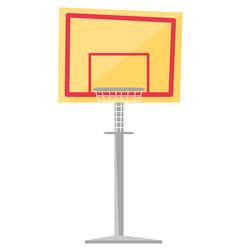 basketball hoop cartoon vector image