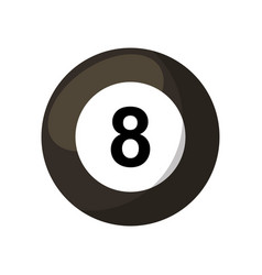 billiard ball eight isolated icon vector image