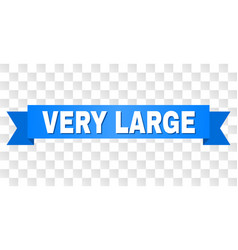 Blue ribbon with very large title vector