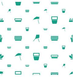 botany icons pattern seamless white background vector image
