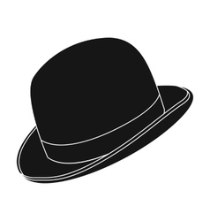 Bowler hat icon in black style isolated on white vector image