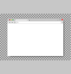 browser window in mockup style empty website page vector image