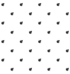 Bugs black and white seamless pattern texture vector image