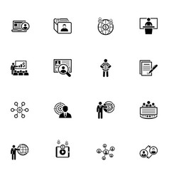 Business and finances icons set flat design vector
