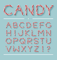 Candy cane font - letters vector