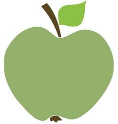Cartoon apple vector image