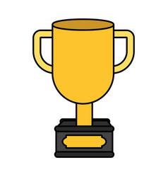 champion trophy cartoon vector image
