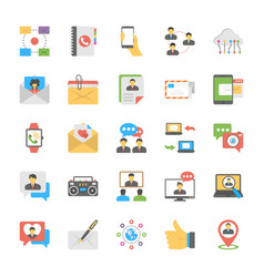 chat and social networking flat icons vector image