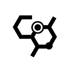 Chemistry formula icon vector