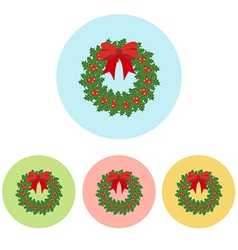 Christmas Wreath icon vector