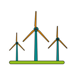 Color image wind turbine eolic energy vector