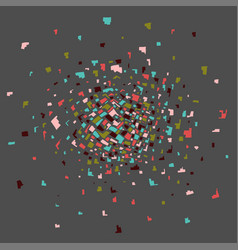 Colorful abstract explosion vector