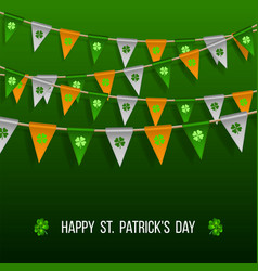 Colorful festive bunting with clover vector