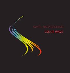 colorful sound wave logo company emblem vector image