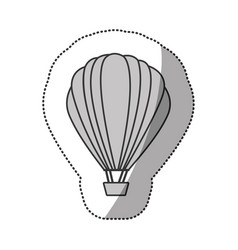contour fly balloon transport vector image