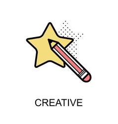 creative graphic icon vector image