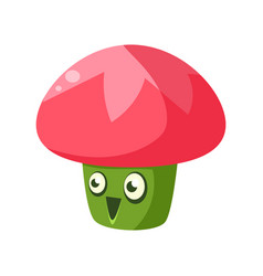 cute fantastic plant character in the form of a vector image