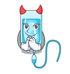 Devil infussion bottle mascot cartoon vector