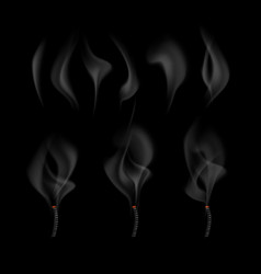 different realistic fume vector image