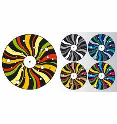 disco plates vector image
