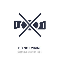 Do not wring icon on white background simple vector