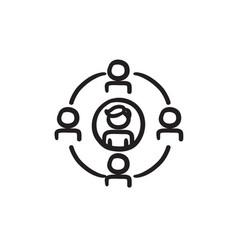 Family sketch icon vector