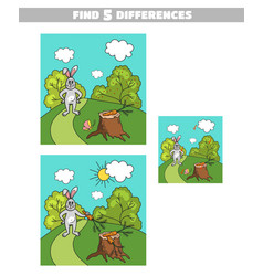 Find differences hare with carrot vector