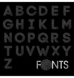 Finger print bold alphabet best font vector image