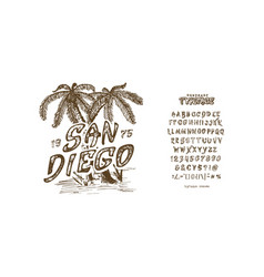 font san diego vector image