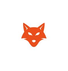 fox head face looking in front logo design vector image