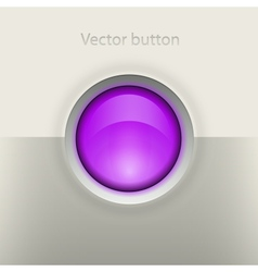 Glossy empty button vector image