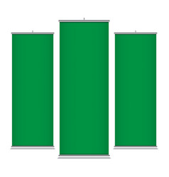 green vertical banner templates vector image