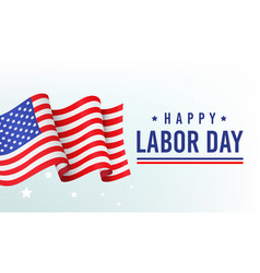 happy labor day banner poster with vector image
