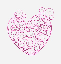 Heart ornament vector