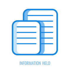 information held line icon vector image