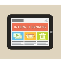 Internet banking online purchasing and transaction vector image