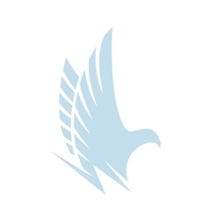 Isolated abstract blue color eaglehawk of falcon vector