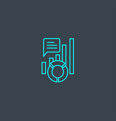 kpi concept blue line icon simple thin element vector image