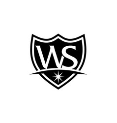 letter w s vector image