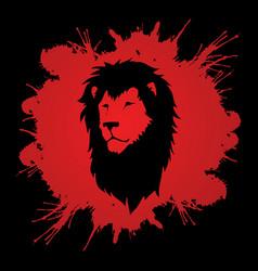 Lion head leo face vector