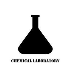 Logo chemical laboratory flask vector