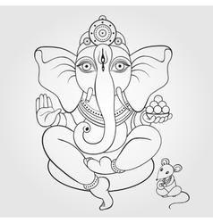 Lord Ganesha Hand drawn vector