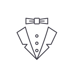 male style line icon concept male style vector image