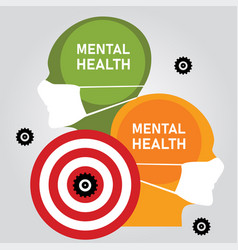 Mental health problem anxiety stressed depression vector