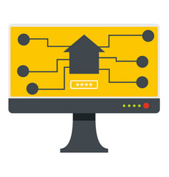 monitor chip icon isolated vector image